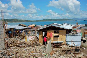 フィリピン被災地の写真